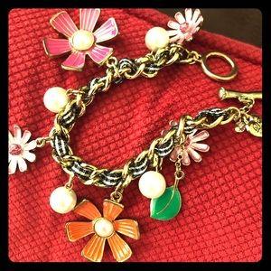 Betsy Johnson flowers bracelet